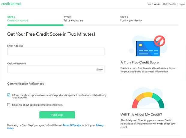 Creditkarma Registration Page Free Credit Score Credit Score Creditkarma