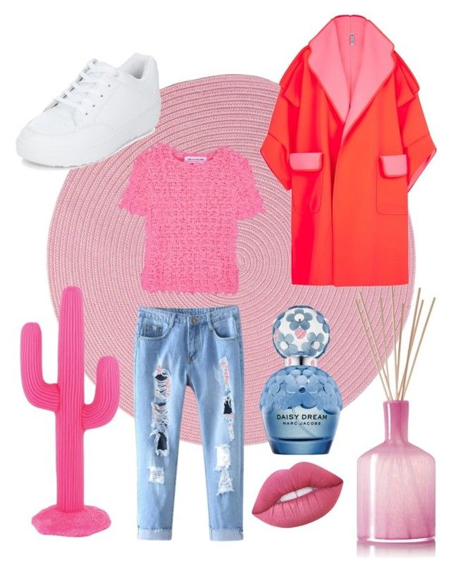 """""""P!nk passion!"""" by renicherie on Polyvore featuring moda, Colonial Mills, Sunnylife, LAFCO, Comme des Garçons GIRL, New Look, Lime Crime e Marc Jacobs"""