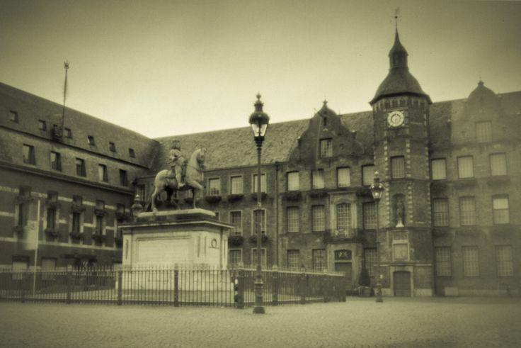 Rathaus Düsseldorf, Camera Obscura, aufgenommen im April 2017