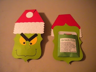 Jean's Crafty Corner: Day 10 of 20 Days of Christmas: Grinch Pills and the final Pick A Stocking Giveaway