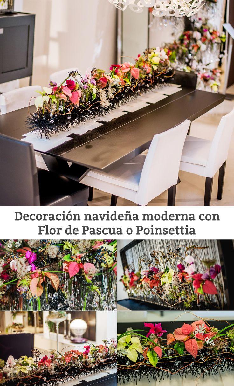 Decoraci n navide a moderna con flor de pascua decoracion - Decoracion navidad moderna ...