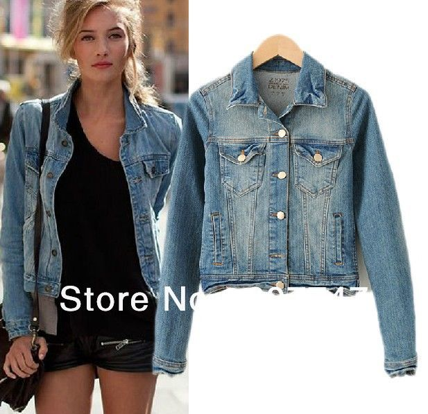 ef49b317b38 Free shipping zara Brand Short-sleeved denim jacket slim section jacket