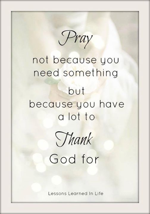 Thank you God for everything and everyone in my life!!!
