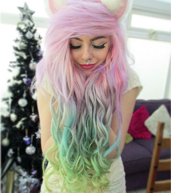 colorful hair extensions&