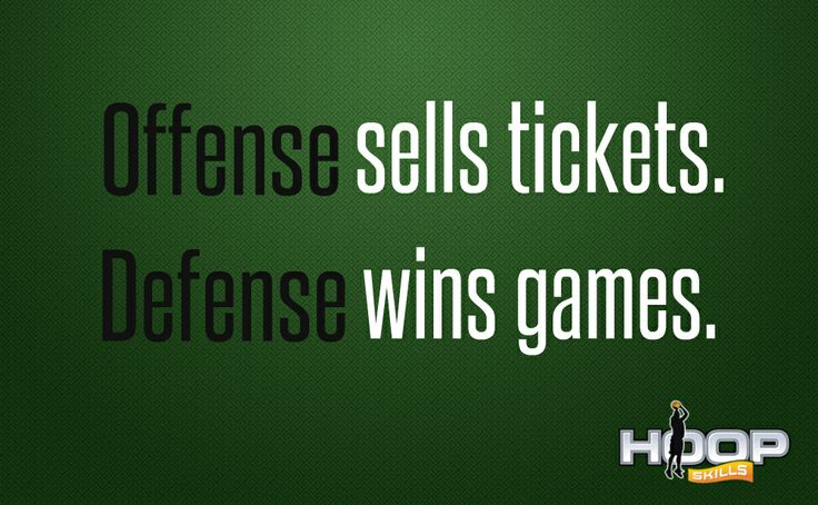 Offense sells tickets. Defense wins games.
