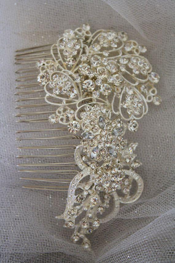 Love this one! Bridal Hair Comb Wedding Hair Comb- Wedding Hair Accessories-Rhinestone Bridal Comb-Crystal Wedding Comb-Bridal Headpiece
