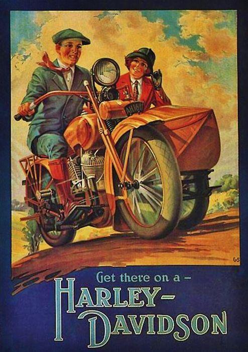 Vintage Harley Davidson advertising                                                                                                                                                     Más