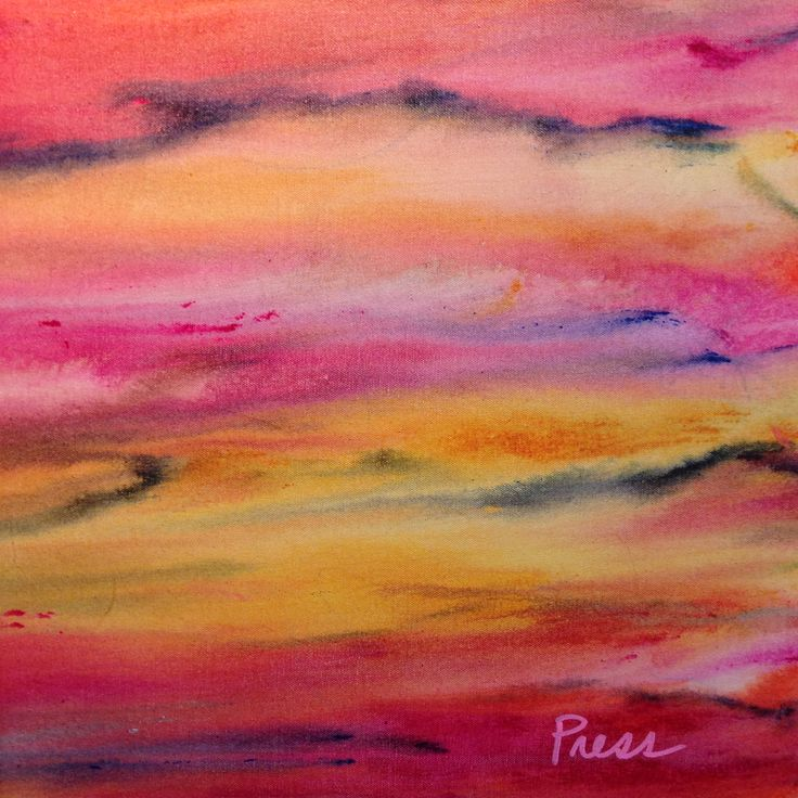 Pink Haze, original acrylic painting by Alison Press