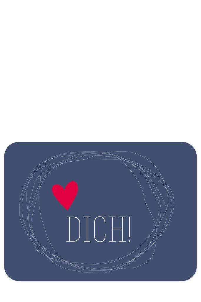 Christliche Postkarte Liebe mit Illustration Herz von Himmel im Herzen
