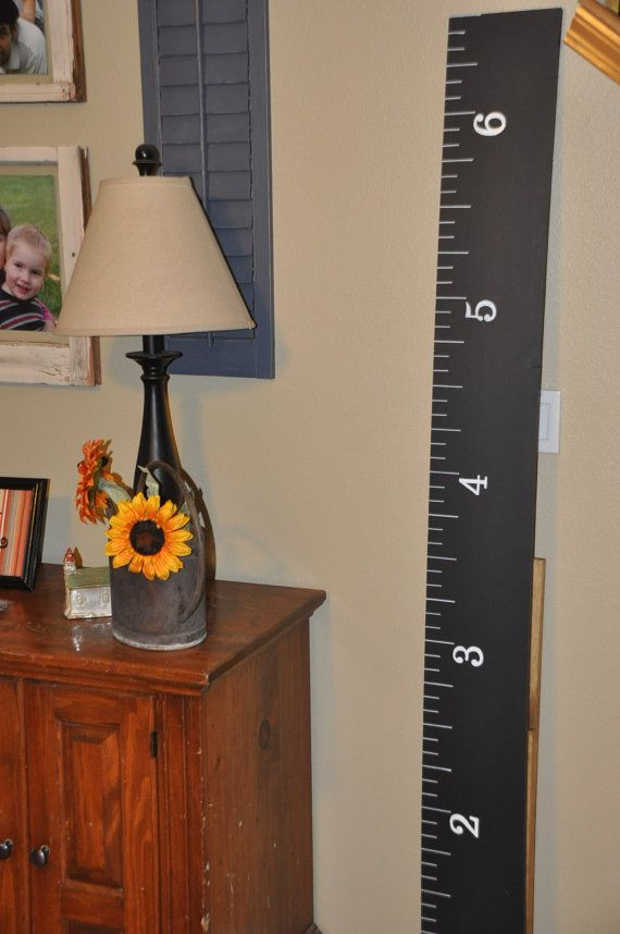 SALE### 4000 Sold! Life-size handmade  Chalkboard growth chart rulers for measuring kids' height