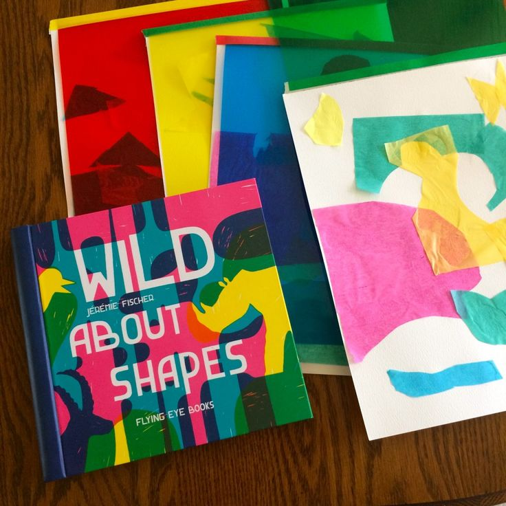 Kids love interactive books and Wild About Shapes is no exception. The anticipation of turning each page, guessing what animals takes shape also serves as a fun tool to teach color theory and how a shape can quickly morph into something entirely different, something instantly alive. Pair reading this book with this shape-shifting collage project.