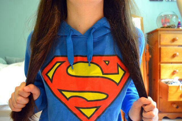superman hoodie. ♡