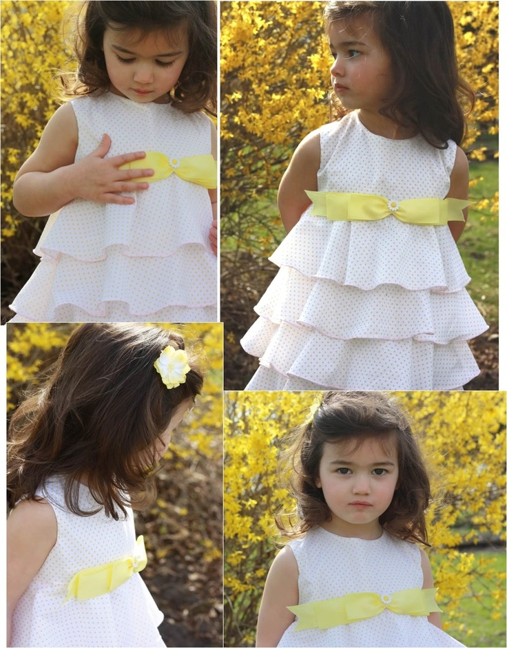 Ellie Inspired Ayano pattern (sizes 1-5): Ayano Tiered, Patterns Ellie, Flounce Dresses Patterns, Flounce Dresspattern, Girls Dresses, Ayano Patterns, Girls Clothing, Ellie Inspiration, Clothing Inspiration