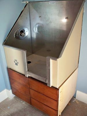 Dog bath - drawers below are steps. I want one!!