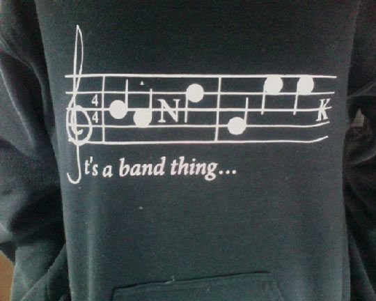 It's a band thing… Not many people can read this.