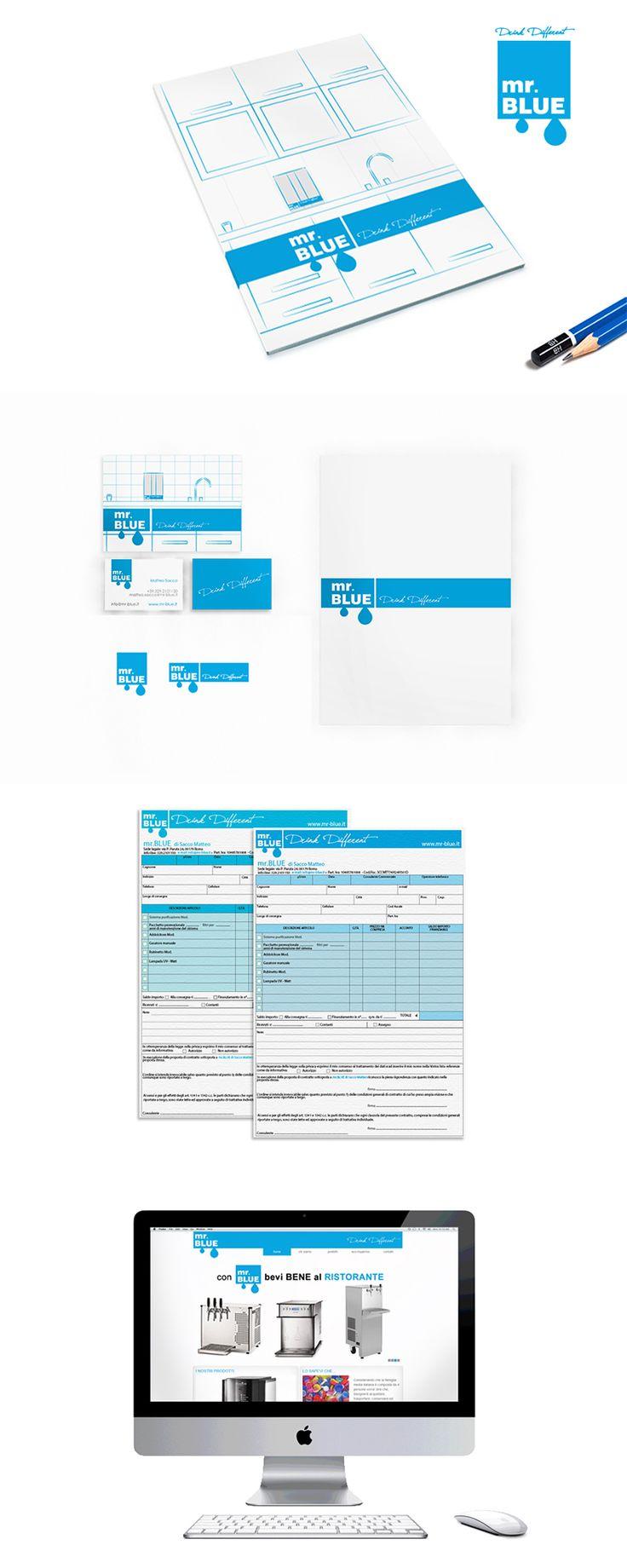 Mr BLUE, Brand Design ─ Giulio Patrizi Design Agency ©    #brand #identity #corporate #graphic