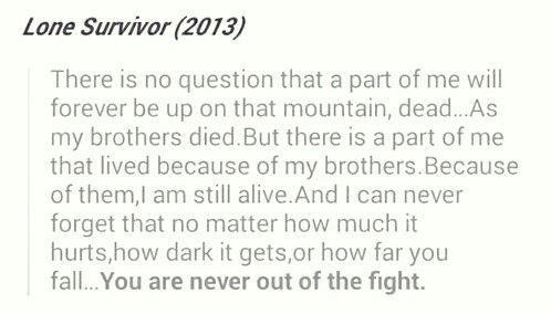 Best quote from lone survivor