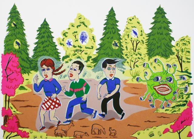 Mike Parsons  Day Trip, 2006  Screenprint