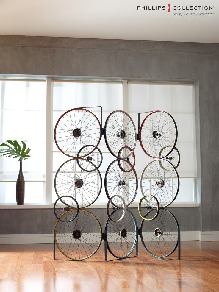 home decor furniture phillips collection. our bicycle wheel screen is made of reclaimed wheels www phillipscollectioncom home decor furniture phillips collection