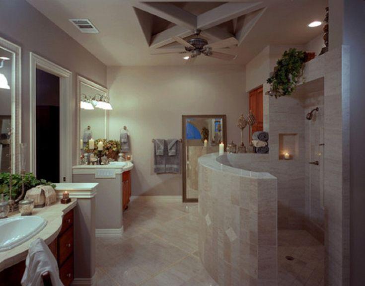 Walk In Shower Ideas For Modern Bathroom Design Highly Feature Doorless Glass Stall