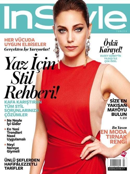 Öykü Karayel - InStyle Magazine Cover [Turkey] (June 2013)