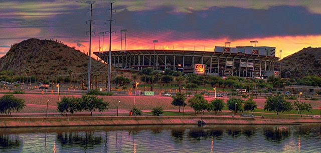 Sun Devil Stadium in Tempe, AZ...Saw Motley Crue here, along with the AZ Cardinals vs Green Bay Packers. :)