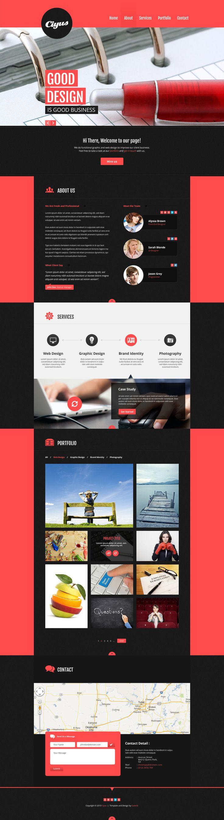 Web Design Ciyus - Single Page Portfolio - ThemeForest Previewer