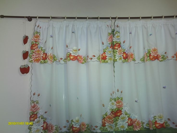 Las 25 mejores ideas sobre cortinas pintadas en pinterest - Ver cortinas para cocina ...