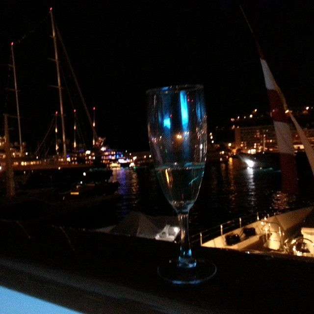 #champagne by #night on #acicoyachts' #nassima @ #monaco #yacht #show #monacoyachtshow #mys #mys14 #acico #superyachts #lights #beautiful