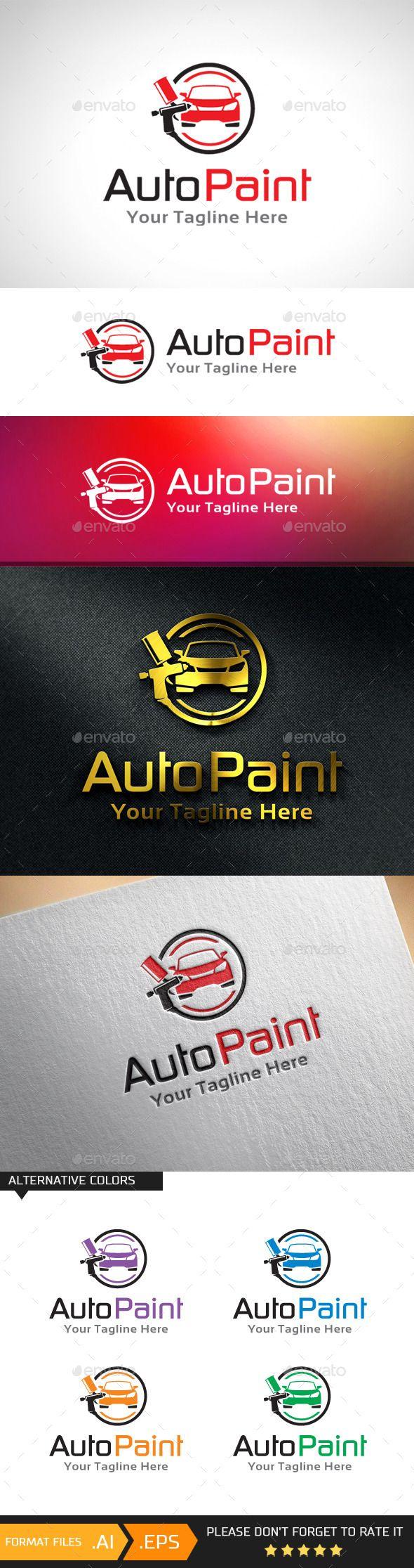 Car body sticker design eps - Car Paint Automotive Paint Logo Template