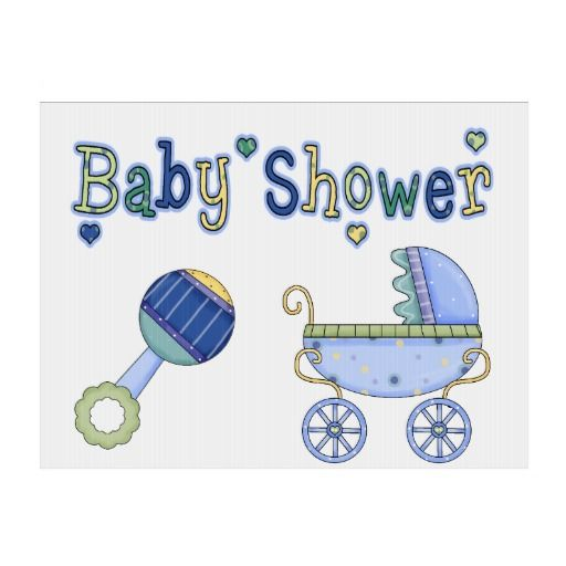 rattle baby shower yard sign prams shower gifts signs blue showers