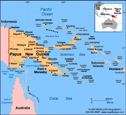 Papua New Guinea Atlas: Maps and Online Resources | Infoplease.com