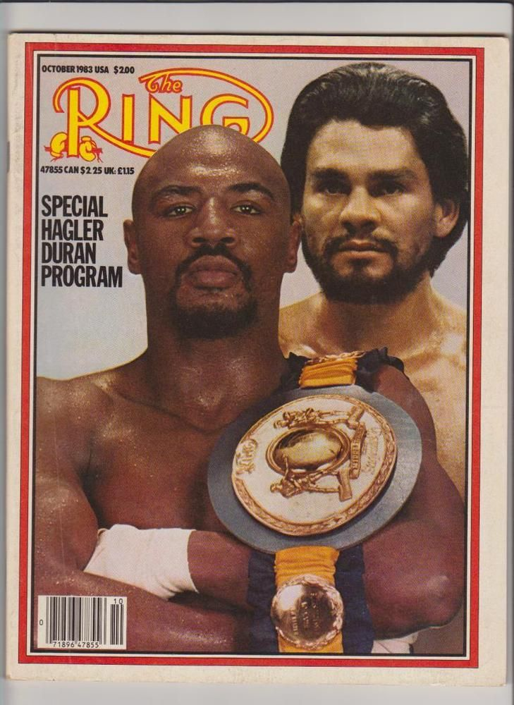 the ring mag marvelous marvin hagler-roberto duran boxing hofers  october 1983 from $26.95