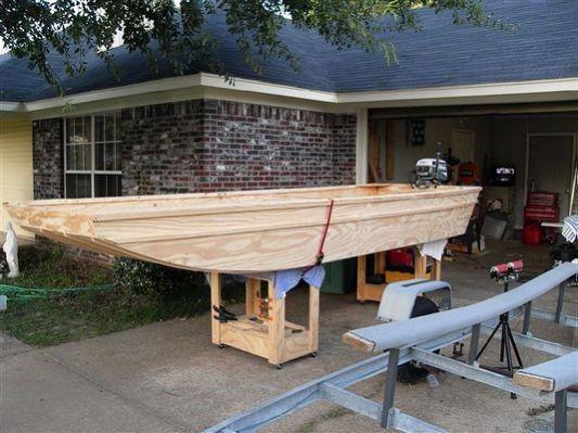 Flat bottom wood boats