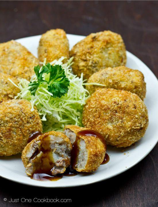 Japanese Beef and Potato Croquettes (Korokke) | Easy Japanese Recipes at JustOneCookbook.com