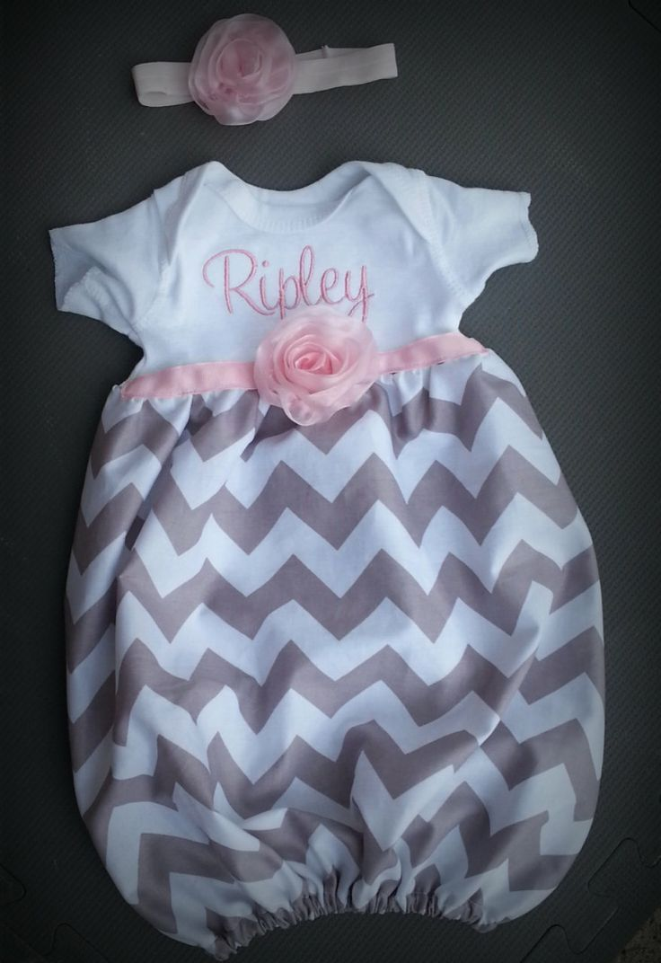 Baby Layette Gown Diva Sack Coming Home Outfit Chiffon