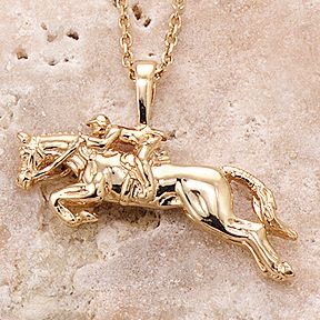 This beautiful 14k solid gold Jumper Pendant, (chain sold separately) is a perfect gift for any hunter or jumper.