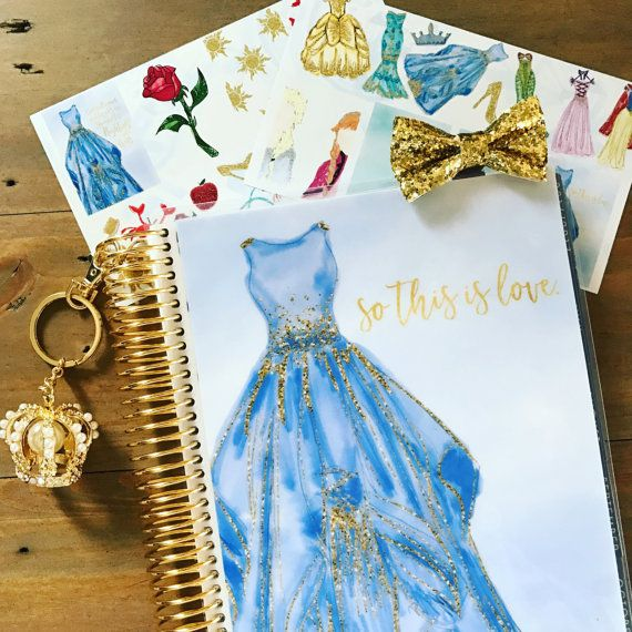 Disney Princess Planner Cover: Erin Condren & Happy Planner Sizes, Cinderella Planner Cover, Disney Planner Cover