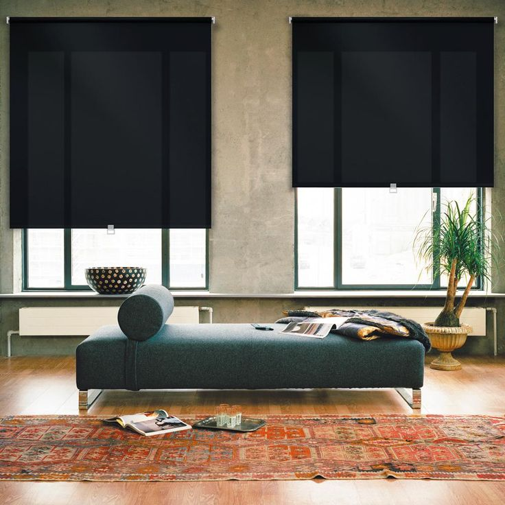 iFit Cut-to-Width Black Cordless Light Filtering Acrylic Coated Polyester Fabric Roller Shade - 29.5 in. W x 73 in. L