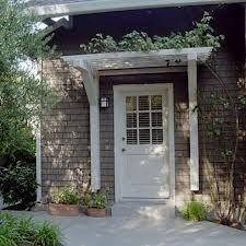 Simple trellis over front door