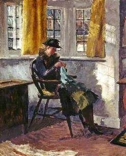 Winter Sunlight r Eleanor Best (1875–1957)