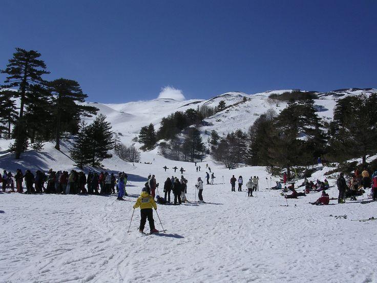 Etna in the snow