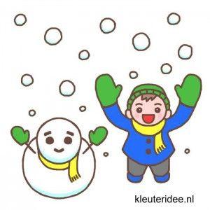 Gymles voor kleuters, thema sneeuw, kleuteridee