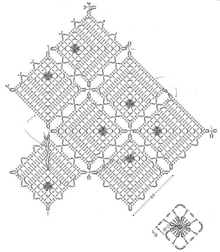 Blusa de Crochê feita com Squares