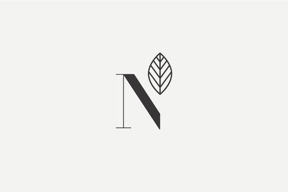 I like this because instead of finishing the n, they used a leaf to finish it. It is very different yet simple.