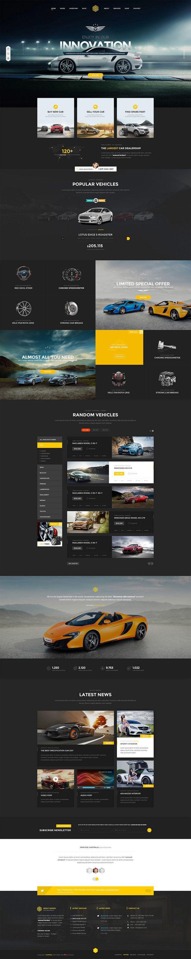 Saprol汽车经销商网页模板设计,来源...