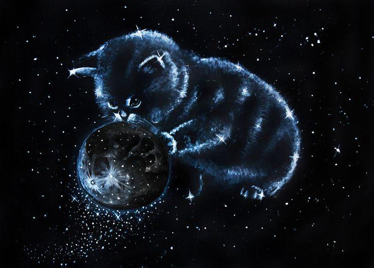Space kitten by umantsiva.deviantart.com on @DeviantArt