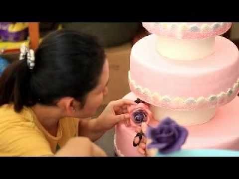 Membuat Wedding Cake dari Fondant dan  Kesaksian Peserta kursus