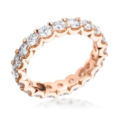 Michael C. Fina's Endless Collection 18K Rose Gold 2.50ctw Diamond Eternity Band