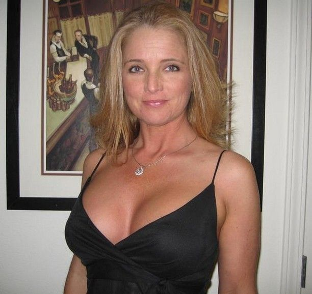 50 Plus Milf Amateur In A Black Cocktail Dress Naturally